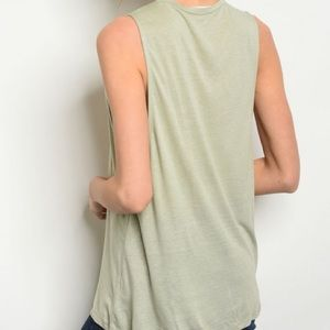 Honey Punch Tops - 3 FOR $40 • Vintage Look MALIBU Sleeveless T-Shirt